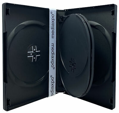 Black 5 Disc DVD Cases