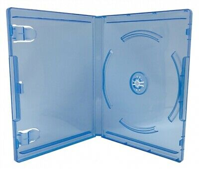 Clear Blue Playstation 4 Replacement Blu-ray Cases 14mm