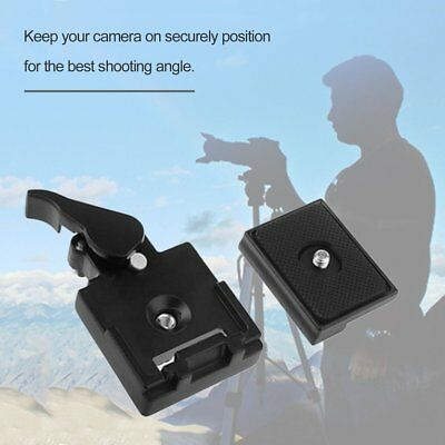 Camera Tripod Quick Release Plate Screw Adapter Mount Head For SLR Cam ES