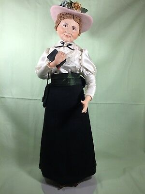 """Porcelain DISPLAY doll """"EASTER SUNDAY BEST"""" w/EXTRUDED HAT & HAIR, FAITH WICK"""