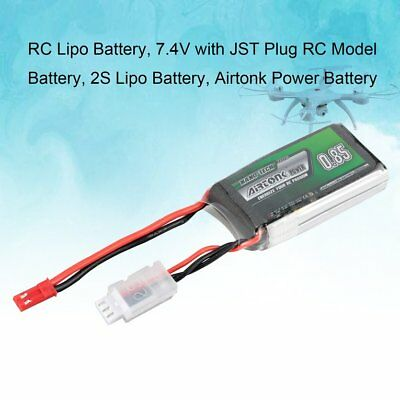 Airtonk Power 7.4V 850mAh 30C 2S 1P Lipo Battery JST Plug for RC Drone Car DU