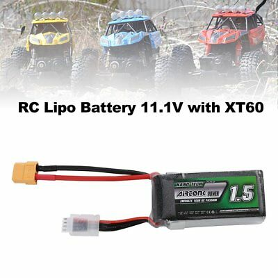 Airtonk Power 11.1V 1500mAh 30C 3s 1P Lipo Battery XT60 Plug for RC Drone Car DU