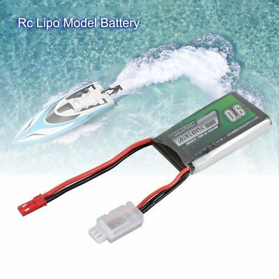 Airtonk Power 7.4V 600mAh 30C 2s 1P Lipo Battery JST Plug for RC Drone Car DU