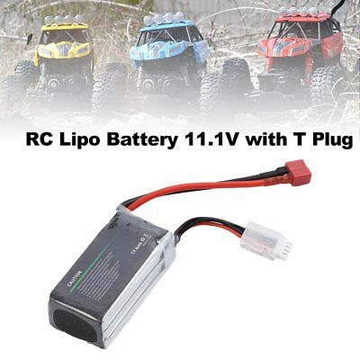 Airtonk Power 11.1V 1300mAh 30C 3s 1P Lipo Battery T Plug for RC Drone Car DU