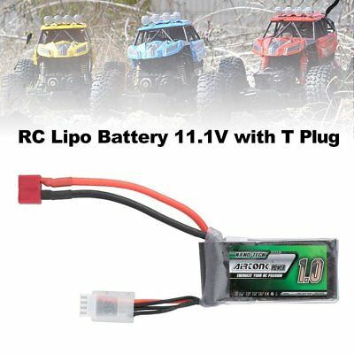 Airtonk Power 11.1V 1000mAh 30C 3s 1P Lipo Battery T Plug for RC Drone Car DU