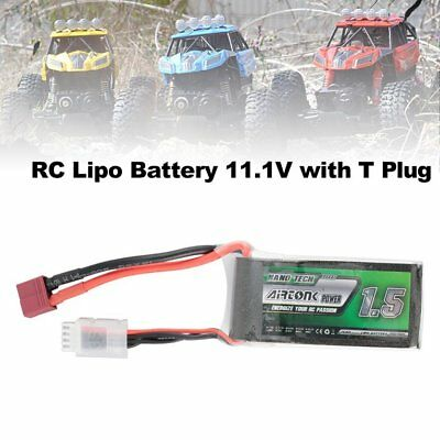 Airtonk Power 11.1V 1500mAh 30C 3s 1P Lipo Battery T Plug for RC Drone Car DU