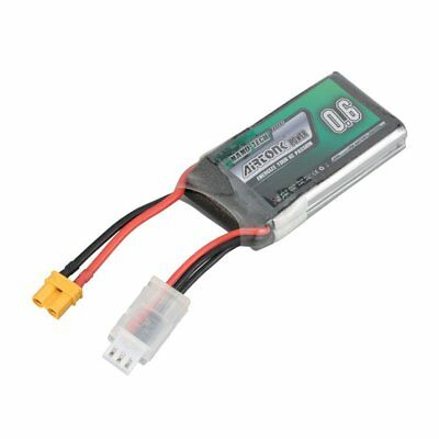 Airtonk Power 7.4V 600mAh 30C 2s 1P Lipo Battery XT30 Plug for RC Drone Car DU