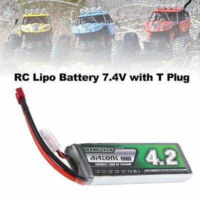 Airtonk Power 7.4V 4200mAh 30C 2s 1P Lipo Battery T Plug for RC Drone Car DU