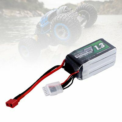 Airtonk Power 14.8V 1300mAh 30C 4s 1P Lipo Battery T Plug for RC Drone Car DU