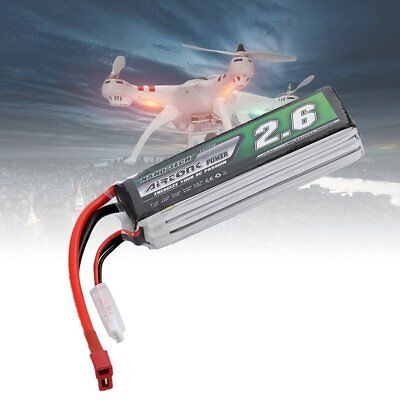 Airtonk Power 11.1V 2600mAh 30C 3s 1P Lipo Battery T Plug for RC Drone Car DU