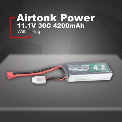 Airtonk Power 11.1V 4200mAh 30C 3s 1P Lipo Battery T Plug for RC Drone Car DU