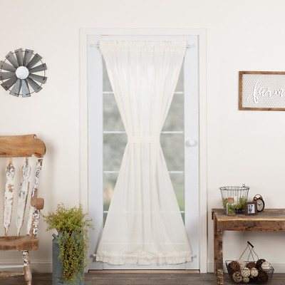 Tobacco Cloth Door Panel Country Cottage Sheer 3 Neutral Colors To Choose From