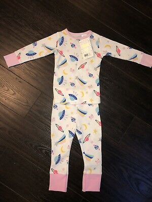 BNWT - Girls Long Sleeve Pyjamas - Space Theme - 12 Months