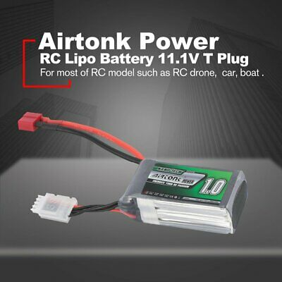 Airtonk Power 11.1V 1000mAh 30C 2s 1P Lipo Battery T Plug for RC Drone Car A MI