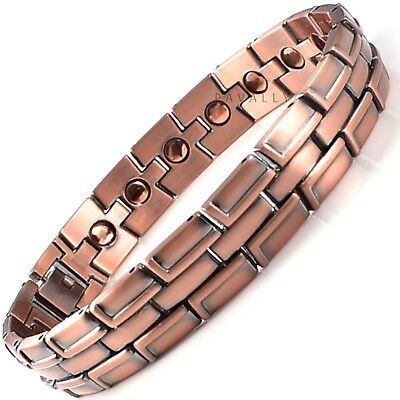 COPPER MAGNETIC BRACELET bangle 19 magnets carpal tunnel arthritis pain relief