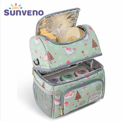 Insulated Bottles Bag Thermal Keep Fresh Bag  Baby Bottle Holder Unicorn Pattern