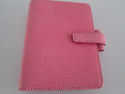 Filofax Organiser Pocket Sized Pimlico Pink Grained Italian Leather