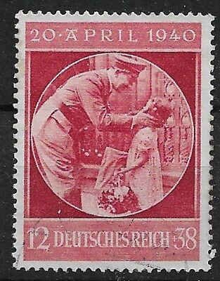 Germany 1940 Hitler's 51st Birthday - Hitler with Child - Michel 744 Fine Used 2