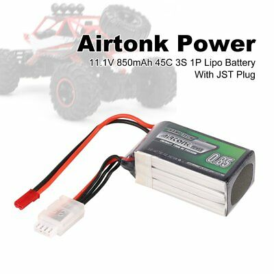 Airtonk Power 11.1V 850mAh 45C 3S 1P Lipo Battery JST Plug for RC Drone Car MI