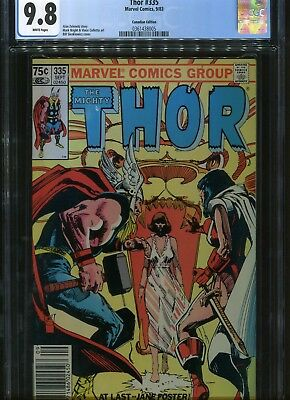 The Might Thor #335 CGC 9.8  75¢ Canadian Price Variant Marvel Comics