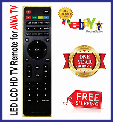 LED LCD AWA TV REMOTE - 100% Replacement - No setup needed