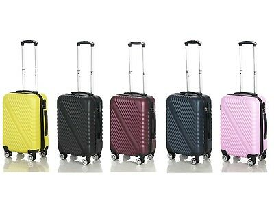 Cabin Hand Luggage Suitcase Ryanair 4 Double Wheeled ABS (826 )Travel Case Bag