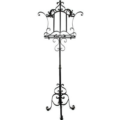Gorgeous French Ornate Wrought Iron Music Stand Music Sheet Book Menu Stand WOW