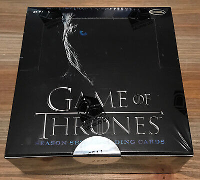 Game of Thrones Season 7 Seven Factory Sealed BOX 2 Autographs Rittenhouse