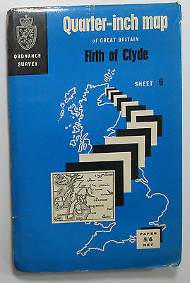 1968 vintage OS Ordnance Survey quarter-inch Fifth Series map 6 Firth of Clyde