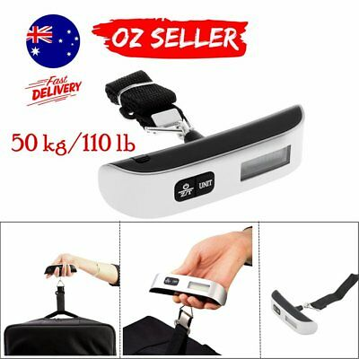 50kg/10g Portable LCD Digital Hanging Luggage Scale Travel Electronic Weight  R3