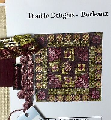 Counted Canvas needlepoint Kit Needle Delights Color Delights Borleaux oliveplum