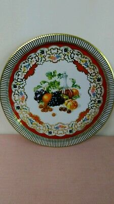 Vintage Daher Decorated Ware Made In England Tin Tray Fruit Decor