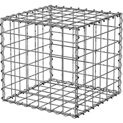 Galvanised Landscaping Cube Gabion 450 x 450 x 600 with free delivery