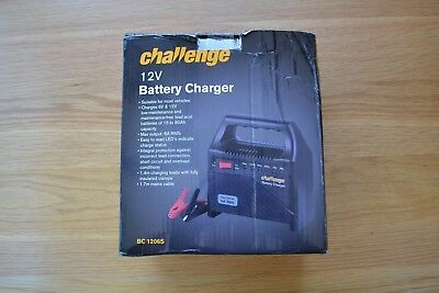 * Challenge 12V Trickle Car Battery Charger * Brand New & Boxed *