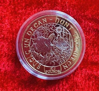2018 Isle of Man Hunt the Wren £2 Unciculted Coin