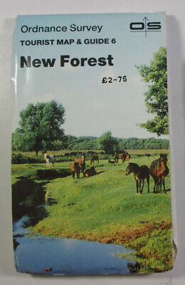 1985 Old Vintage OS Ordnance Survey One Inch Tourist Map & Guide 6 New Forest