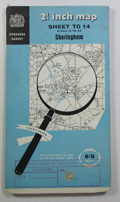 1960 Old Vintage OS Ordnance Survey 1:25000 First Series Map TG 14 Sheringham