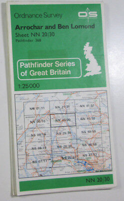 1978 Old OS Ordnance Survey 1:25000 Pathfinder Map Arrochar Ben Lomond NN 20/30