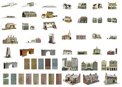 SuperQuick OO/HO building card kits for model railway (51 models)