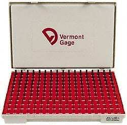 Vermont Gage 190 Piece, 0.0615-0.2505 Inch Diameter Plug and Pin Gage Set Min...