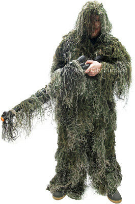Camouflage Suite [Burlap Ghillie Suit for Airsoft, Paintball, and Hunting]