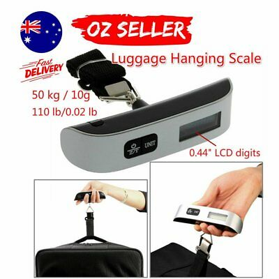 50kg/10g Portable LCD Digital Hanging Luggage Scale Travel Electronic Weight  T1