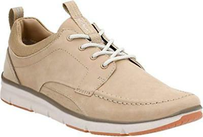 Halbschuhe Clarks Men's Orson Bay Sand Nubuck Leather Casual Shoe Uk 11g