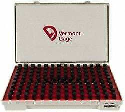 Vermont Gage 125 Piece, 0.501-0.625 Inch Diameter Plug and Pin Gage Set Minus...