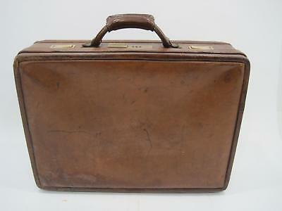 bbe148584be3 VTG HARTMANN LUGGAGE Brown Leather Briefcase Suitcase Lock Travel Bag