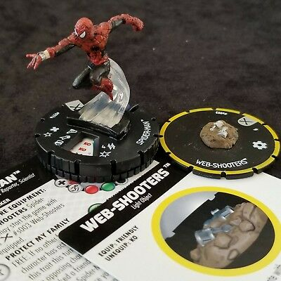 SPIDER-MAN - 037a & WEB-SHOOTERS - s003 Rare EARTH X Heroclix #37a
