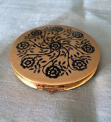 Vintage 1960's Stratton of England Face Powder Compact with Mirror & Lid Sifter