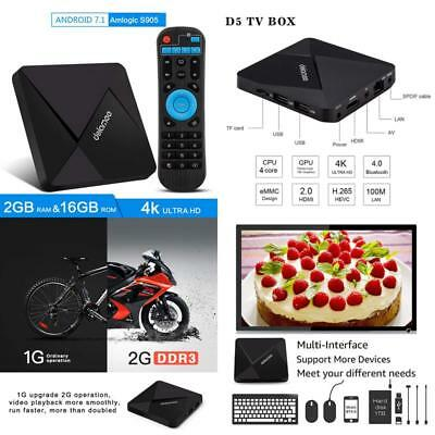 DOLAMEE D5 ANDROID 7 1 Tv Box, 2Gb Ram 16B Rom 4K Hd Smart Media Player  With 2 4