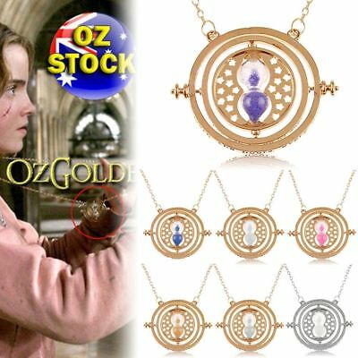 Harry Potter Hermione Converter Time Turner Sand Spin Necklace Pendant Gifts MI