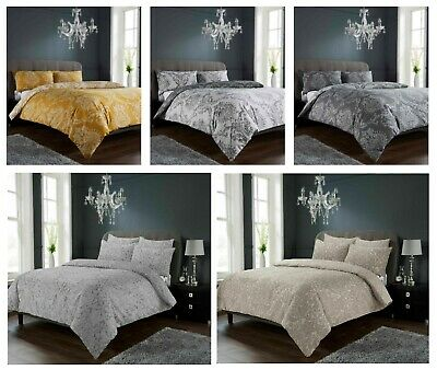 Luxuries ROYAL DEMASK Printed Reversable Duvet Cover+Pillow Case Bedding Set LW